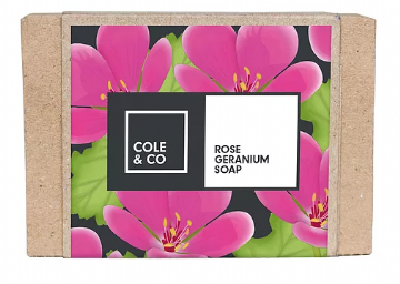Sebon Cole & Co Soap - Rhosyn Geraniwm | Rose Geranium